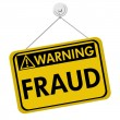 Warning of Fraud — Stock Photo