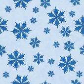 Blue Snowflake Fabric Background — Stock Photo