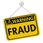 Warning of Fraud — Stock Photo