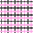 Stock Photo: Pink, White and Black Plaid Fabric Background