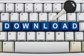 Secure downloads online — Stock Photo