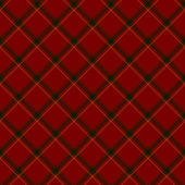 Red, Green and Yellow Plaid Fabric Background — Stock Photo