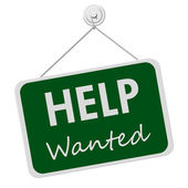 Help Wanted Sign — Stock Photo