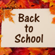 Back to School card with fall leaves — Stock Photo