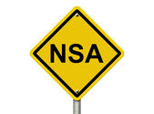 Warning of NSA — Stock Photo