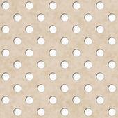 Ecru and White Polka Dot Fabric Background — Stock Photo