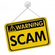 Stock Photo: Warning of Scam