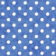 Navy Blue and White Polka Dot Fabric Background — Stock Photo