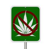 No se puede conducir bajo la influencia de la marihuana — Foto de Stock