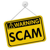 Warning of Scam — Stock Photo