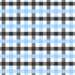 Blue, White and Black Plaid Fabric Background — Stock Photo #27574869