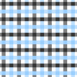 Stock Photo: Blue, White and Black Plaid Fabric Background