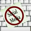 No accessing social media at work — Stock Photo