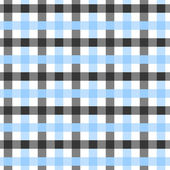 Blue, White and Black Plaid Fabric Background — Stock Photo