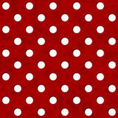 Red and White Polka Dot Fabric Background — Stock Photo