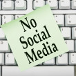 No accessing social media at work — Lizenzfreies Foto
