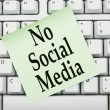 No accessing social media at work — Zdjęcie stockowe