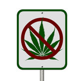 No Driving Under the Influence of Marijuana — Stock Photo