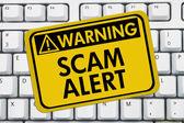 Scam waarschuwing — Stockfoto