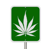 Driving Under the Influence of Marijuana — Stock Photo