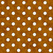 Brown and White Polka Dot Fabric Background — Stock Photo