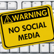No accessing social media at work — Foto de Stock