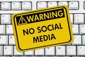 καμία πρόσβαση σε κοινωνικών μέσων μαζικής ενημέρωσης στην εργασία — 图库照片
