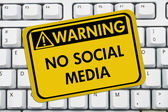 No accessing social media at work — Stok fotoğraf