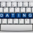 Finding love online — Stock Photo