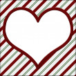 Red and Green Striped with white heart for your message backgrou — Stock Photo
