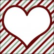 Red and Green Striped with white heart for your message backgrou — Stock Photo #28290149
