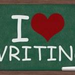 Ik hou van schrijven — Stockfoto