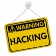Warning of Hacking — Stock Photo