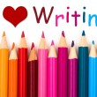 I Love Writing — Stok Fotoğraf #28891045
