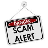 Danger Scam Alert — Stock Photo