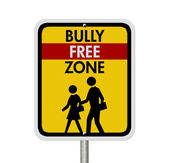 Caution This is a Bully Free Zone — Zdjęcie stockowe
