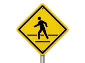 Caution crosswalk present — Foto Stock