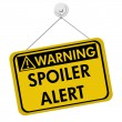 Warning of Spoiler Alert — Stock Photo