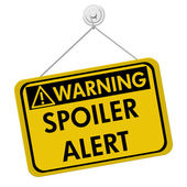 Warning of Spoiler Alert — Stock Photo