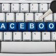 Protecting your Facebook information — Zdjęcie stockowe