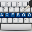 Protecting your Facebook information — Stock Photo