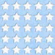 Blue and White Star Fabric Background — Stock Photo