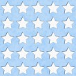 Blue and White Star Fabric Background — Photo
