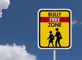 Caution This is a Bully Free Zone — Stock Photo