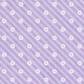 Purple Striped Fabric with Flowers Background — Stock Photo