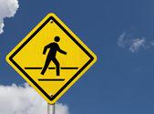 Caution crosswalk present — Stock Photo