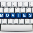 Watching movies online — Stock Photo