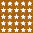 Gold and White Star Fabric Background — Stock Photo #29931881
