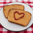 Stock Photo: Love Peanut Butter and Jam