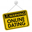 Warning about Online Dating — Stok fotoğraf